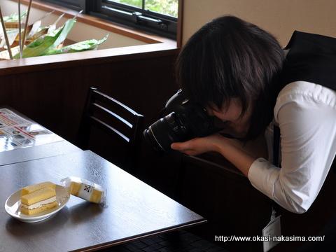 米粉練乳サンドの撮影