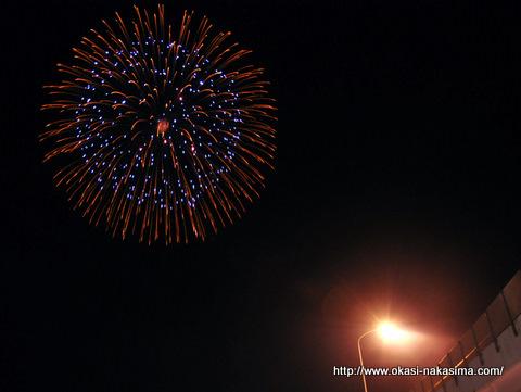 能生ふるさと海上花火大会の花火