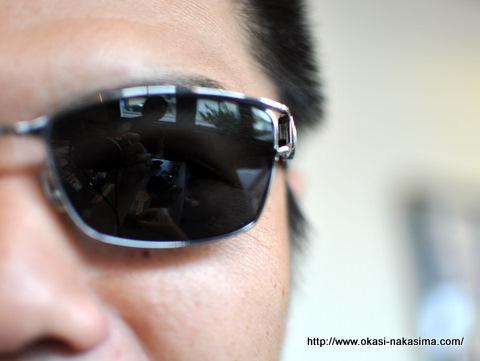私のサングラス姿