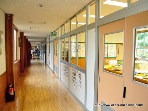 家庭科室前の廊下