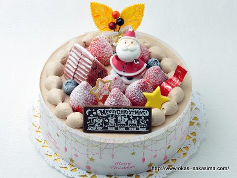 2011年クリスマスケーキ・サンタさんの贈り物(生チョコ)
