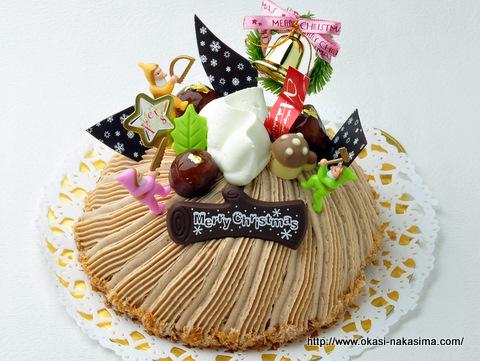 2011年クリスマスケーキ・マロンフォレスト