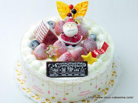 2011年クリスマスケーキ・サンタさんからの贈り物(生クリーム)