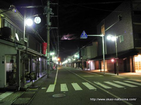 通りの夜景