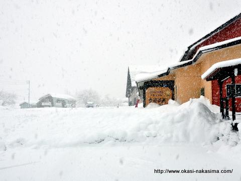糸魚川シーサイドバレーさんでの雪