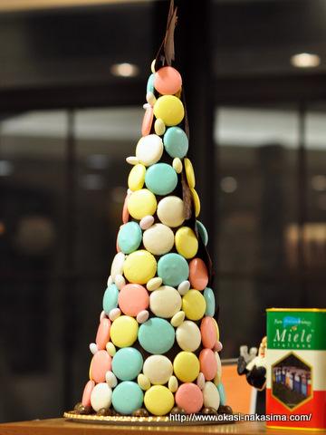 チョコレートマカロンタワー