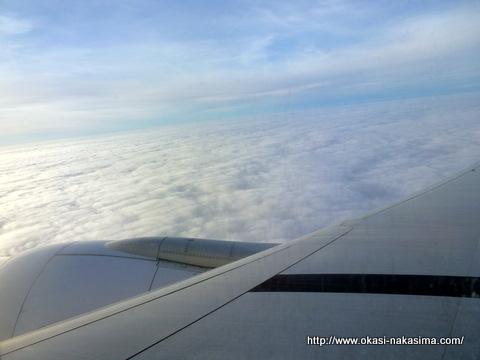 フライト中の空