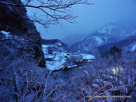 平岩パーキングから姫川温泉郷方面