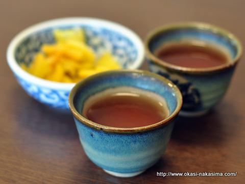 えんめい茶と漬物