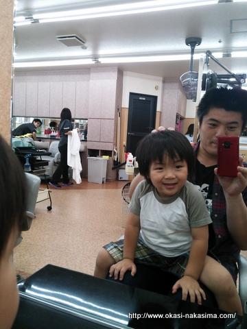 息子と美容室