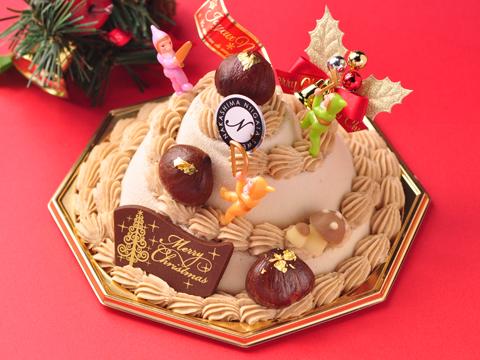 2013年クリスマスケーキ「マロンの森の木こり隊」