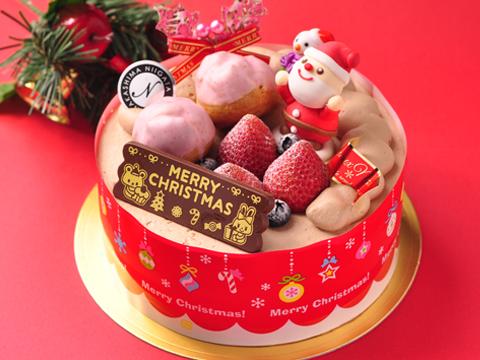 2013年クリスマスケーキ「サンタさんからの贈り物(生チョコクリーム)」