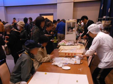 JAひすい糸魚川冬のお菓子祭りの様子