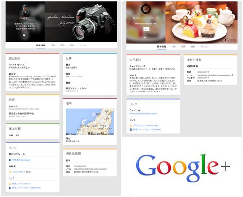 グーグルプラスのページ