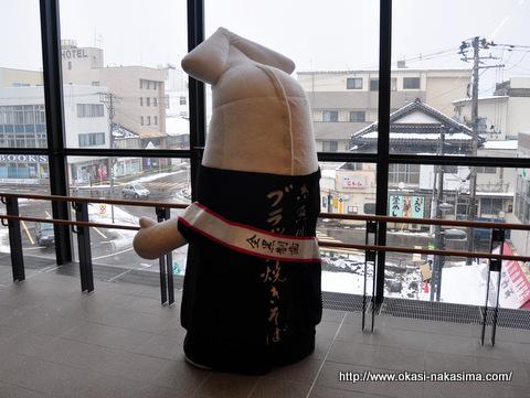 糸魚川の駅前を見下ろす