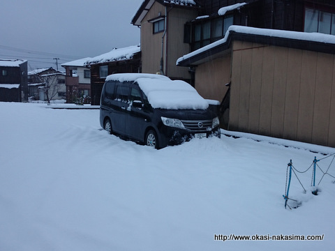 マイカーは雪の中