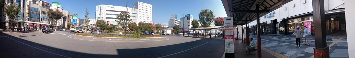 上田駅前のパノラマ写真