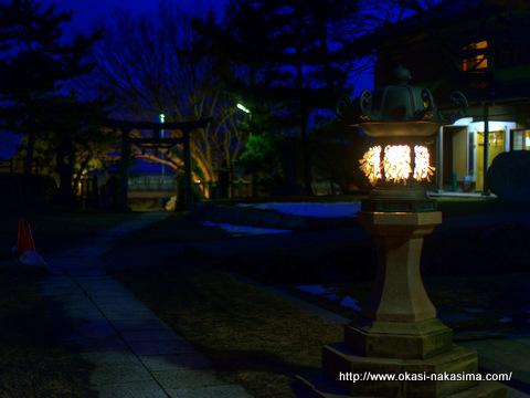 白山神社前